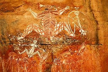 Aboriginal rock paintings at Nourlangie Rock, Kakadu National Park, Northern Territory, Australia