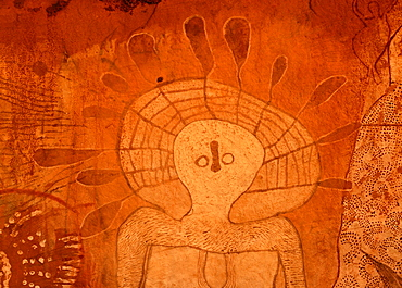 Old rock art of the Aborigines, south of Alice Springs, Northern Territory, Australia