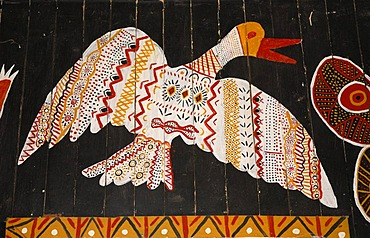 Naive painting in an Aboriginal church, Tiwi Islands, Darwin, Northern Territory, Australia