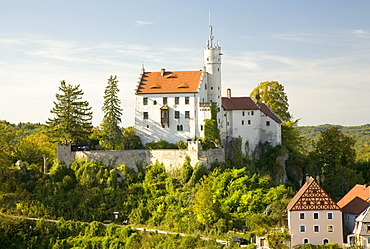 Castle above Goessweinstein, Franconian Switzerland, Upper Franconia, Bavaria, Germany, Europe