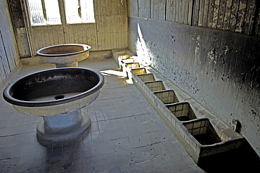 Wash room in concentration camp sachsenhausen, germany
