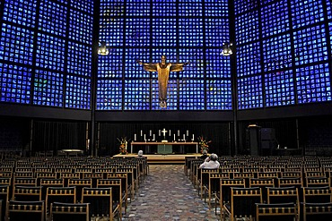 Interior of Kaiser Wilhelm Gedaechtniskirche, Memorial Church, Berlin, Germany, Europe