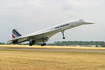 The last landing of the Concorde F-BVFB, Baden-Baden, Baden-Wurtemberg, Germany