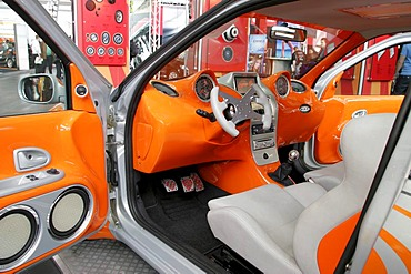 Car tuning, cabin in a futuristic style