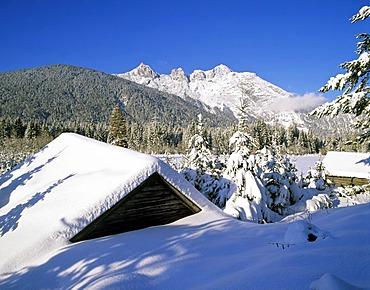 Ahrnspitzen near Seefeld, winter, Wettersteingebirge, Tyrol, Austria