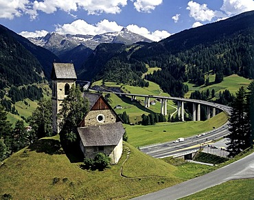 Obernberger Bruecke near Gries, Brenner motorway, Tyrol, Austria
