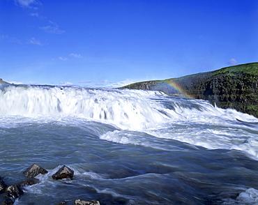 Gullfoss Waterfalls, Hvita-Fluss, Haukadalur, southern Iceland, Iceland