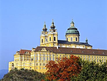 Stiftskirche Melk (church), Danube, Lower Austria, Austria, Europe