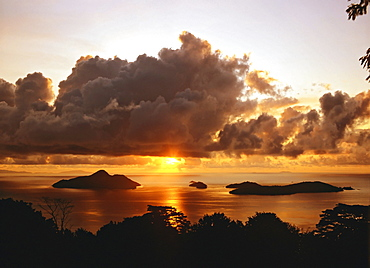 Sunrise over Mahe, Seychelles, Indian Ocean