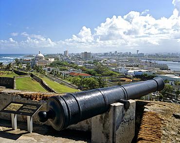 El Castillo San Felipe del Morro, fortress, cannon, UNESCO World Heritage Site, San Juan, Puerto Rico, Caribbean