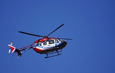 Police helicopter EC145 Eurocopter in action