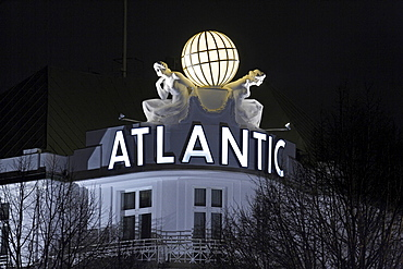 Hotel Atlantic Kempinski in Hamburg at night - city of Hamburg - Hamburg, Germany, Europe