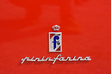 Writing on a Ferrari 212 Europa Pinin Farina Berlinetta, built 1953