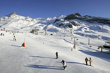 Ski resort Silvretta Arena bei Ischgl, Austria