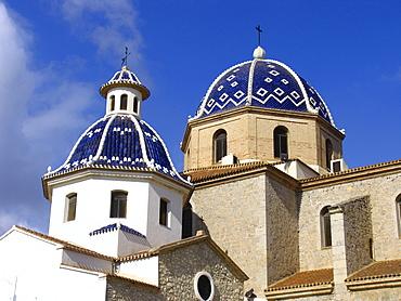The wellknown church La Mare de Deu del Consol, Altea, Spain