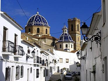 The wellknown church La Mare de Deu del Consol, old town, Altea, Spain