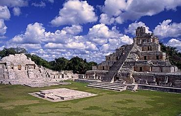 Edificio de los Cinco Pisos, Gran Acropolis, Edzna, Mexico, North America