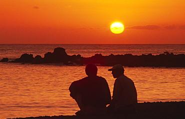 Sunset in La Playa, Valle Gran Rey, La Gomera, Canary Islands, Spain