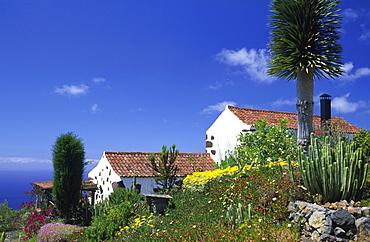 Typical farm house (casa rural) on the island, La Palma, Canary Islands, Spain
