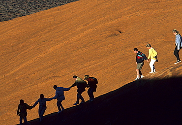 Ayers Rock, way up in the early morning, Northern Territory, Australia