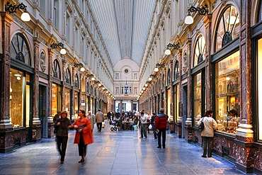 Shopping mall Galeries Royales Saint-Hubert, Brussels, Belgium
