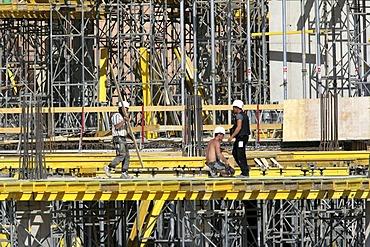 "Construction site of a giant Karstadt shopping Mall ""Limbecker Platz"", Essen, North Rhine-Westphalia, Germany"