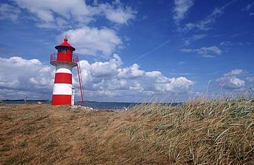 Grisetaodde lighthouse, Neno-Sund, Limfjord, North Jutland, Denmark