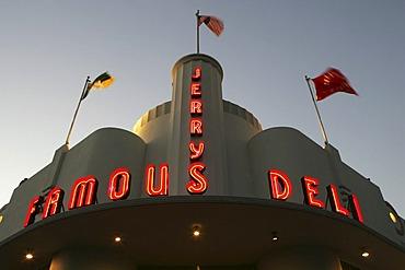 Jerry Famous Deli, Restaurant at Collins Avenue, South Beach, Miami Beach, Florida, USA