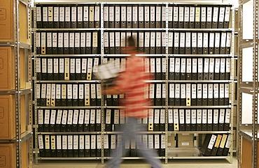 Archive, tax office Essen Sued, Essen, North Rhine-Westphalia, Germany