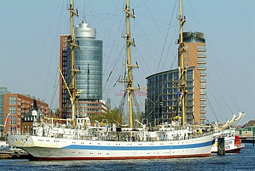 Modern Hafencity port city project, Kehrwiederspitze, Hamburg, Germany