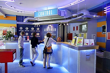 "Reception, ""Generator"" Hostel, Berlin, Germany"