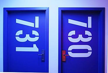 "Room number labelling, ""Generator"" Hostel, Berlin, Germany"