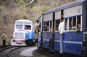 Narrow gauge railway from Kalka to Simla, Himachal Pradesh, India