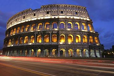 ITA, Italy, Rome : Colosseum, big ancient amphitheatre at the Via dei Fori Imperiali. |