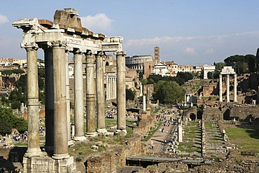 ITA, Italy, Rome : centre of the ancient Rome, buildings and ruins of the Foro Romano.  