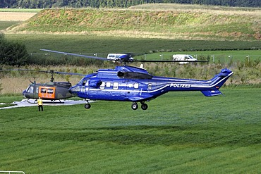 Puma heavy lift helicopter, federal Police and rescue helicopter UH-1D SAR, Federal Armed Forces
