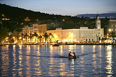 Franciscan Monastery at the harbour promenade, Split, Middle Dalmatia, Croatia