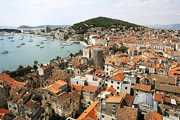 View from the tower of the cathedral, Split, Middle Dalmatia, Croatia