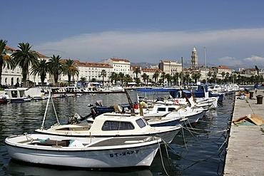 Old part of town, port, Split, Middle Dalmatia, Croatia