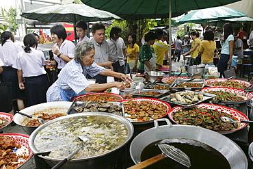 THA Thailand Bangkok Hot food stall on the street