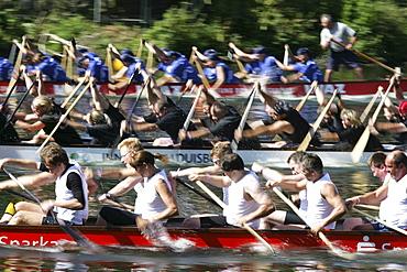 DEU Germany Muelheim Dragon boat race on the river Ruhr