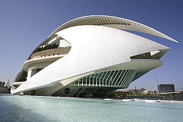ESP, Spain, Valencia : Ciudad de las Artes Y de las Ciencias, City of arts and sciences. Palau de les Arts Reina Sofia