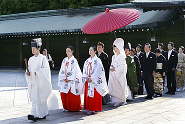 Shinto wedding, Meiji Shrine, Tokyo, Japan, Asia
