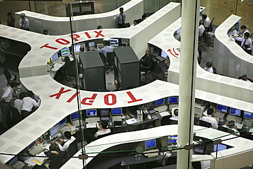 Tokyo Stock Exchange in the Nihombashi financial district, Tokyo, Japan, Asia