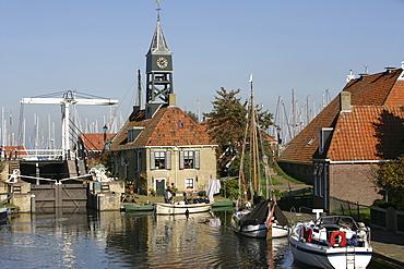 Hindeloopen, Ijsselmeer, Friesland, The Netherlands, Europe