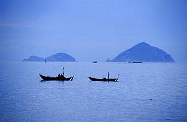 Fishing boats off the coast of Nha Trang, Khanh Hoa Province, Vietnam, Asia