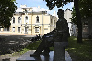 Sculpture in front of the former Presidential Palace, Kaunas, Lithuania, Baltic States, Northeastern Europe
