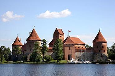 Trakai Island Castle, landmark of Lithuania, Trakai, Lithuania, Baltic States, Northeastern Europe