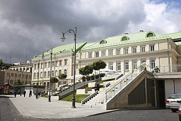 Gedimino9 building, an exclusive shopping mall on Gedimino Prospektas, Vilnius, Lithuania, Baltic States, Northeastern Europe