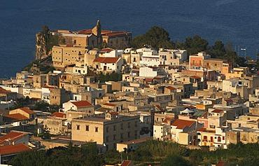 Castle hill of Lipari, main village of Lipari, Liparian Islands, Sicily, province of Messina, Italy